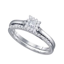 10KT White Gold 0.24CT DIAMOND 0.09CT CENTER PRINCESS B