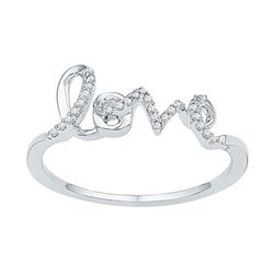 10KT White Gold 0.08CTW DIAMOND FASHION RING