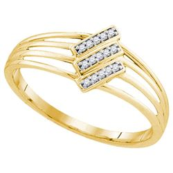 10K Yellow-gold 0.05CTW DIAMOND FASHION RING