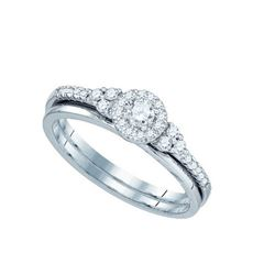 10KT White Gold 0.30CT DIAMOND BRIDAL SET