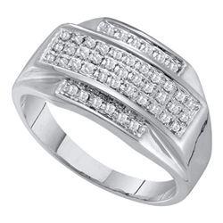 10KT White Gold 0.33CTW MICRO PAVE DIAMOND RING