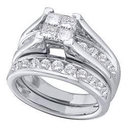 10KT White Gold 0.47CTW DIAMOND INVISIBLE BRIDAL SET