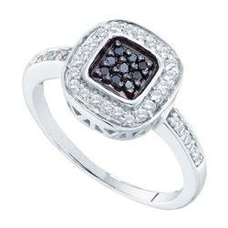 14KT White Gold 0.27CTW DIAMOND FASHION RING
