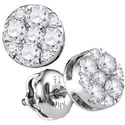 14KT White Gold 0.50CTW-Diamond LARISSA EARRINGS