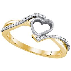 10K Yellow-gold 0.07CTW DIAMOND HEART RING