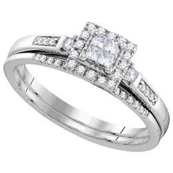 10KT White Gold 0.25CTW DIAMOND INVISIBLE BRIDAL SET