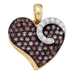 10KT Yellow Gold 0.75CT COGNAC DIAMOND LADIES HEART PEN
