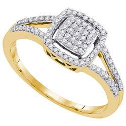 10K Yellow-gold 0.25CTW DIAMOND MIRO-PAVE RING