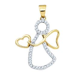 10K Yellow-gold 0.12CTW DIAMOND FASHION PENDANT