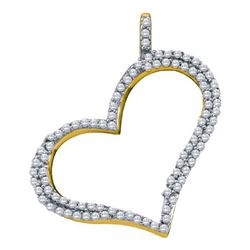 10KT Yellow Gold 0.34CTW DIAMOND HEART PENDANT