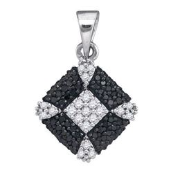 925 Sterling Silver White 0.25CT DIAMOND FASHION PENDAN