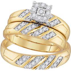 10K Yellow-gold 0.33CTW DIAMOND FASHION TRIO-SET