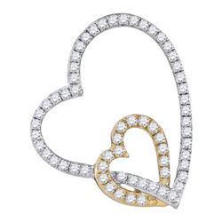 10KT White Gold 0.33CTW DIAMOND FASHION PENDANT