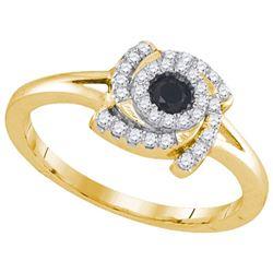 10K Yellow-gold 0.32CTW DIAMOND FASHION RING
