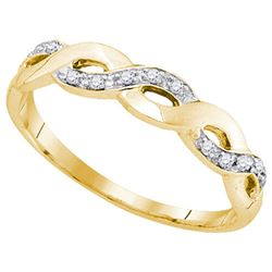 10K Yellow-gold 0.08CTW DIAMOND FASHION BAND