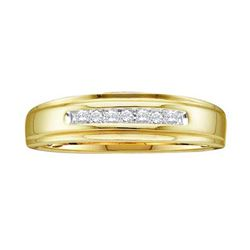 14KT Yellow Gold 0.08CTW ROUND DIAMOND MEN'S FASHION BA