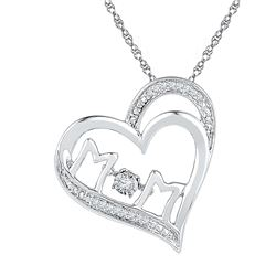 Sterling Silver Womens Round Diamond Moving Twinkle Sol