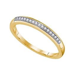 10KT Yellow Gold 0.05CTW DIAMOND MICRO PAVE BAND