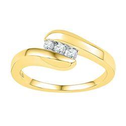10K Yellow-gold 0.12CTW-Diamond FASHION BAND