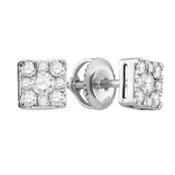 10K White-gold 0.50CT DIAMOND FASHION EARRING