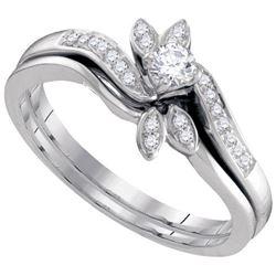 10KT White Gold 0.26CTW DIAMOND FASHION RING