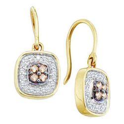 14KT Yellow Gold 0.33CTW COGNAC DIAMOND LADIES FASHION