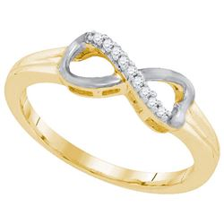 925 Sterling Silver Yellow 0.05CTW DIAMOND FASHION RING