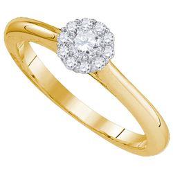 10K Yellow-gold 0.25CT DIAMOND BRIDAL RING