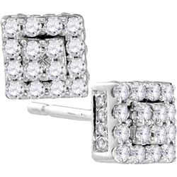 10KT White Gold 0.30CTW DIAMOND FASHION EARRING