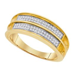 925 Sterling Silver Yellow 0.22CT DIAMOND MICRO-PAVE ME