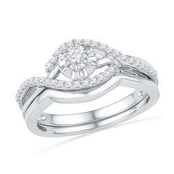 10KT White Gold 0.25CTW DIAMOND FASHION BRIDAL SET
