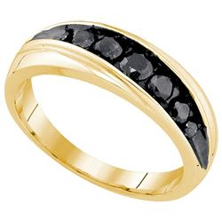 10K Yellow-gold 0.76CTW DIAMOND MICRO PAVE MENS BAND