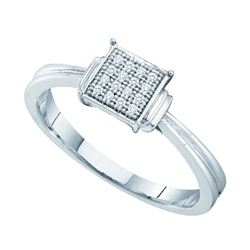 925 Sterling Silver White 0.05CTW DIAMOND MICRO PAVE BA