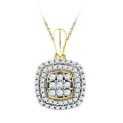 10K Yellow-gold 0.33CTW DIAMOND FASHION PENDANT