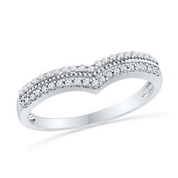 10KT White Gold 0.5CTW DIAMOND FASHION BAND