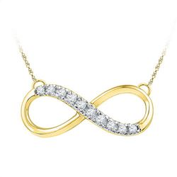 10K Yellow-gold 0.10CTW DIAMOND INFINITY NECKLACE