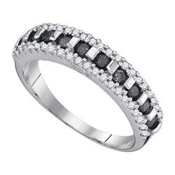 10K White-gold 0.50CTW BLACK DIAMOND FASHION RING