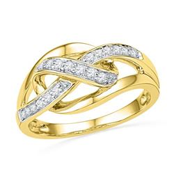 10K Yellow-gold 0.20CTW DIAMOND FASHION BAND