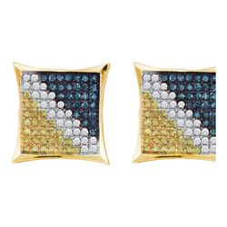 10KT Yellow Gold 0.06CTW DIAMOND MICRO PAVE EARRING