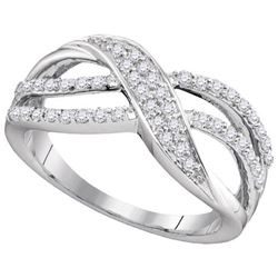 10KT White Gold 0.35CTW DIAMOND FASHION BAND