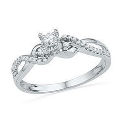 10KT White Gold 0.25CTW DIAMOND FASHION RING