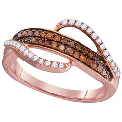 10KT Rose Gold 0.33CTW RED DIAMOND FASHION RING