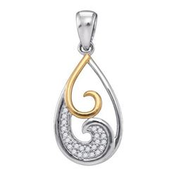 925 Sterling Silver White 0.05CTW DIAMOND FASHION PENDA