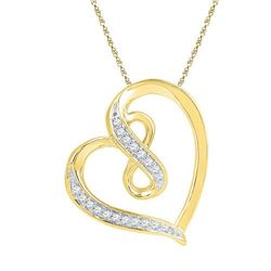 10K Yellow-gold 0.06CTW DIAMOND FASHION PENDANT