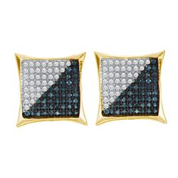 10KT Yellow Gold 0.10CTW DIAMOND MICRO PAVE EARRING