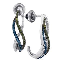10KT White Gold 0.25CTW DIAMOND FASHION EARRINGS