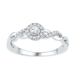 10KT White Gold 0.20CTW DIAMOND BRIDAL RING
