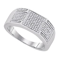 925 Sterling Silver White 0.23CTW DIAMOND MICRO-PAVE ME