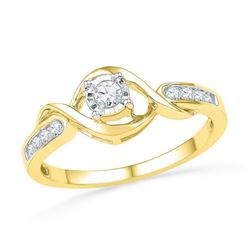 10K Yellow-gold 0.16CTW DIAMOND FASHION RING