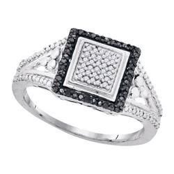925 Sterling Silver White 0.18CTW DIAMOND MICRO-PAVE RI